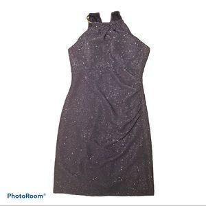 Eliza J Navy Glitter Halter Dress Formal Size 10